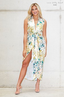 Never Fully Dressed Printed Wrap Zsa Zsa Dress
