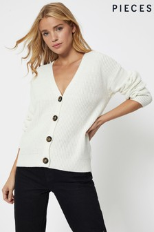 Pieces V neck Button Down Cardigan