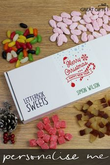 Personalised Merry Christmas Letterbox Sweets By Great Gifts