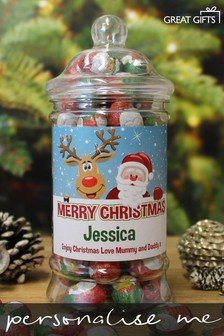 Personalised Christmas Chocolates Jar By Great Gifts