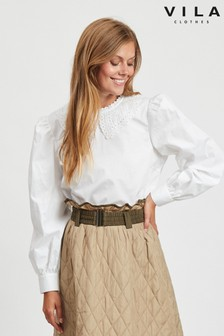 Vila Collar Detail Shirt