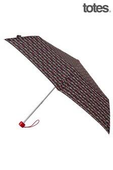 Totes Supermini Dotty Print Umbrella