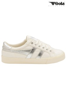 Gola Ladies' Tennis Mark Cox Canvas Lace-Up Trainers