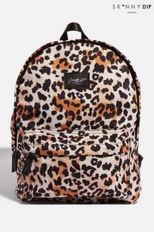 Skinnydip Recycled Leopard Backpack