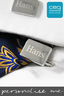Personalised Rectangular Cufflinks by CEG Collection