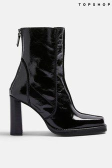 Topshop Chunky Heeled Ankle Boot