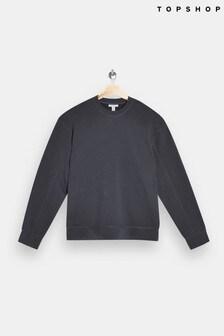 Topshop Flatlock Oversized Sweatshirt