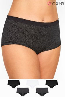 Yours Curve Polka Dot Full Briefs - Pack Of 5