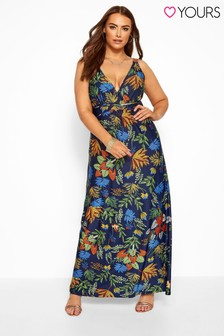 Yours Curve Tropical Maxi Dress