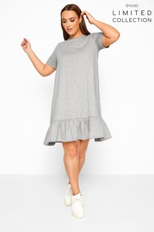 Yours Limited Collection Marl Frill Hem Dress
