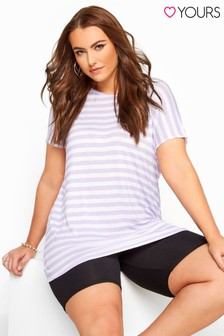 Yours Curve Striped Jersey Top
