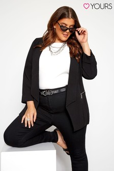 Yours Curve Bubble Crepe Blazer