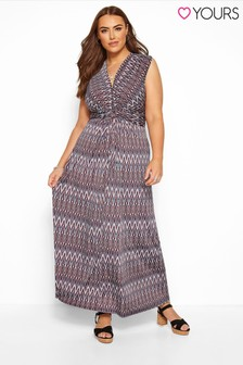 Yours Curve Geometric Knot Front Maxi Dress