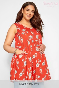 Yours Bump It Up Maternity Floral Drape Pocket Top