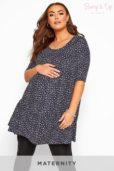 Yours Bump It Up Maternity Ditsy Floral Tiered Smock Tunic