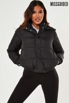 Missguided Petite Hooded Padded Jacket