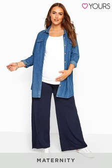 Yours Bump It Up Maternity Palazzo Trousers With Comfort Panel