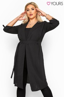 Yours Curve Crepe Utility Longline Duster Jacket