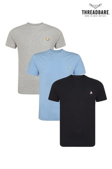 Threadbare Chest Embroidery T-Shirts Pack Of 3