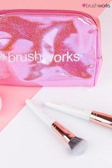 Brush Works Travel Makeup Brush & Sponge Set