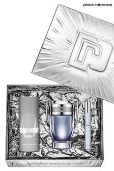 Paco Rabanne Invictus Eau de Toilette 100ml, Deodorant 150ml, Travel Spray 10ml Gift Set