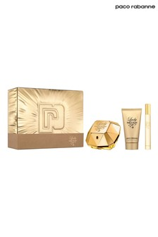 Paco Rabanne Lady Million Eau de Parfum 50ml, Body Lotion 75ml, Travel Spray 10ml Gift Set