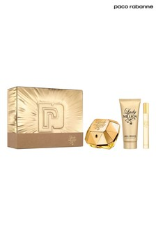 Paco Rabanne Lady Million Eau de Parfum 80ml, Body Lotion 100ml, Travel Spray 10ml Gift Set