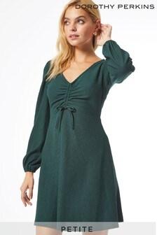 Dorothy Perkins Petites Ruched Front Fauchette Mini Dress