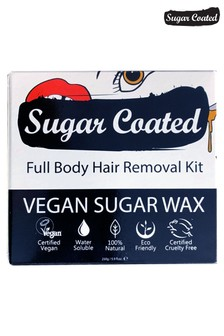 Sugar Coated Full Body Hair Removal Kit (250g Wax, x3 Applicators and x15 Reusable Strips)