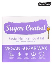 Sugar Coated Facial Hair Removal Kit (200g Wax, x3 Applicators and x15 Reusable Strips)