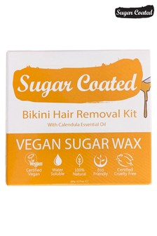 Sugar Coated Bikini Hair Removal Kit (200g Wax, x3 Applicators and x15 Reusable Strips)