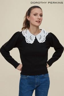 Dorothy Perkins Broderie Collar 2 In 1