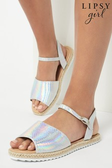Lipsy Espadrille Iridescent Flatform Sandal (Older)