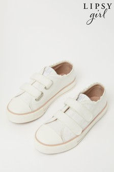 Lipsy Canvas Velcro Trainer (Younger)