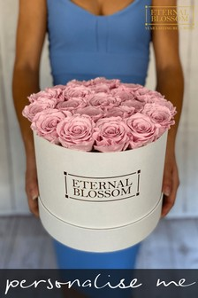 Personalised Year Lasting Real Roses Large Blossom Box by Eternal Blossom