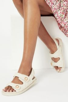 Lipsy Quilted Velcro Footbed Sandal