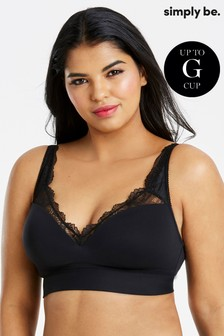 Simply Be Ella Lace Moulded Lounge Bra G+
