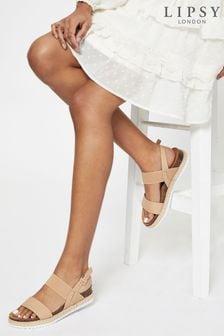 Lipsy Elastic Espadrille Footbed Sandal