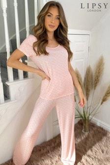 Lipsy Jersey Wide Leg Pyjama Set