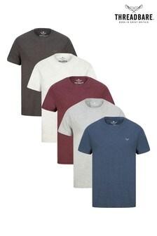 Threadbare 5 Pack Basic Cotton T-Shirts