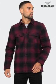 Threadbare Check Borg Lined Overshirt