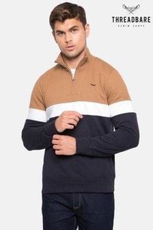 Threadbare Zip Neck Sweatshirt