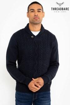 Threadbare Shawl Collar Jumper With Wool