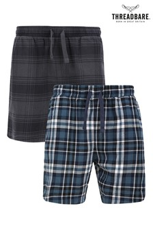 Threadbare 2 Pack Multi Check Jex Cotton Pyjama Shorts