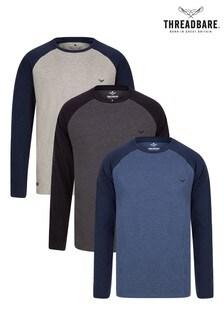Threadbare  3 Pack Trent Long Sleeve T-Shirts