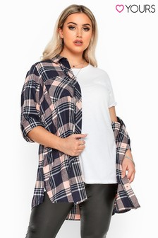 Yours Curve Studded Boyfriend Shirt