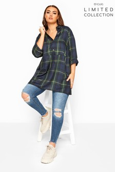 Yours Limited Collection Oversized Overhead Check Shirt