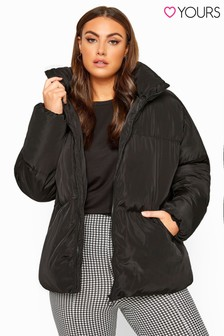 Yours Curve Cropped Padded Jacket