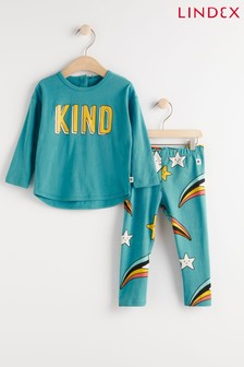 Lindex Baby Long Sleeved Top With Leggings Set