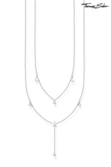 Thomas Sabo Double Chain Moon and Star Necklace